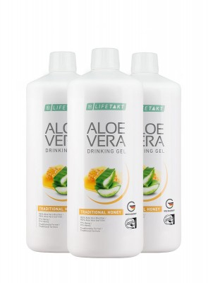 Aloe Vera Drinking Gel Honey, 6er Pack